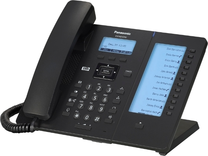 VoIP-телефон Panasonic KX-HDV230RUB Black