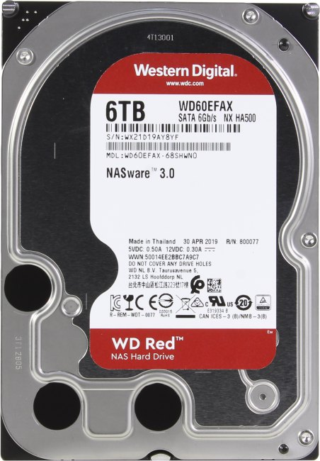 Жесткий диск 6 Тб Western Digital WD Red (WD60EFAX) 3.5