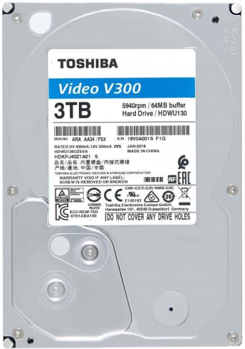Жесткий диск 3 Тб Toshiba Video Streaming V300 (HDWU130UZSVA) 3.5