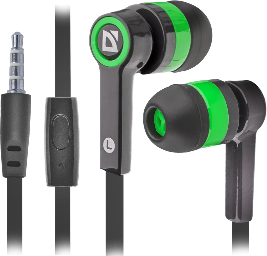 Гарнитура Defender Pulse-420 Black/Green