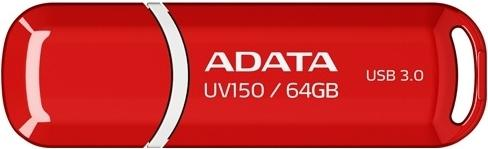 Флешка 64 Гб A-Data UV150 Red (AUV150-64G-RRD) USB 3.0 Type A, красная