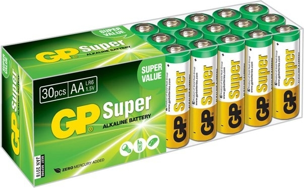 Батарея GP Super Alkaline 15A LR6, 30 шт. AA