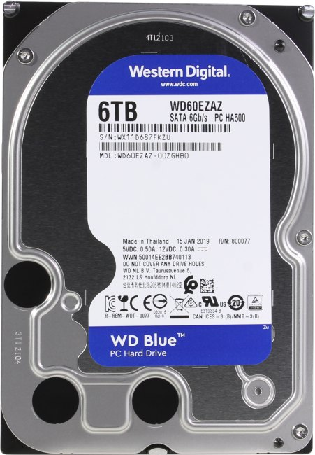 Жесткий диск 6 Тб Western Digital WD Blue (WD60EZAZ) 3.5