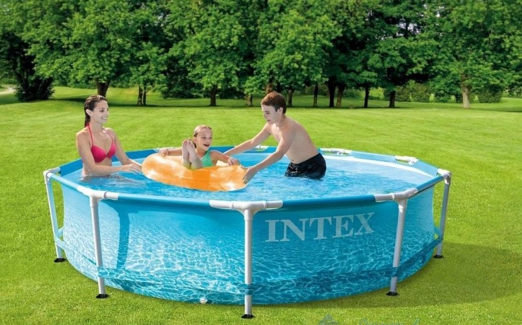 Бассейн каркасный Intex Metal Frame Beachside 305х305х76см [28206]