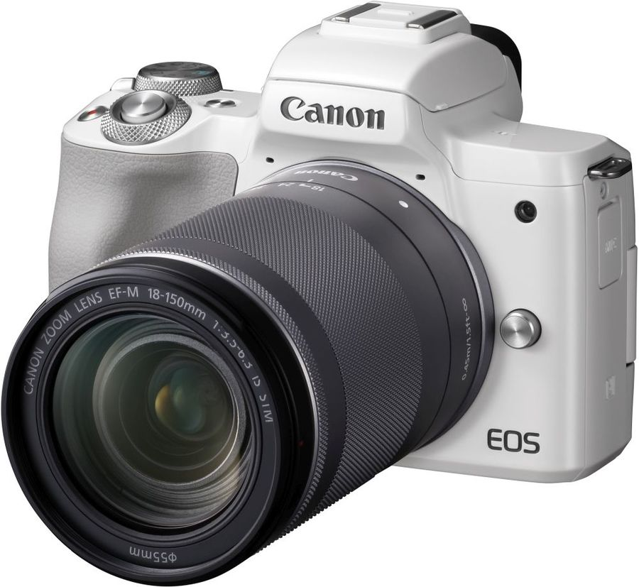 Фотоаппарат CANON EOS M50 KIT 18-150 IS STM белый